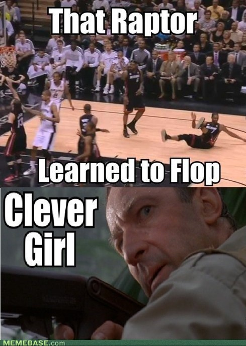 chris bosh,sports,clever girl,flopping,basketball