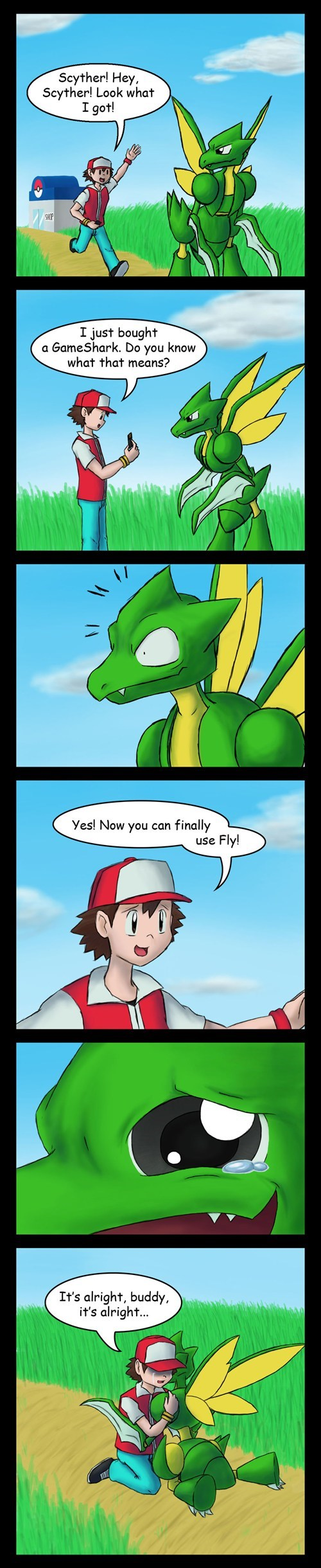 Pokémon fly comics scyther - 7578883840