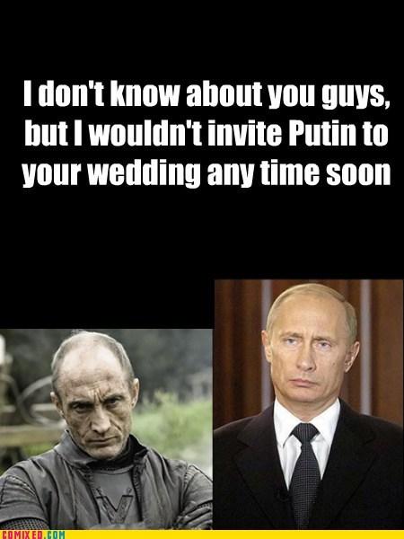 Game of Thrones wedding Putin funny
