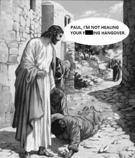 jesus Paul hangover funny after 12 - 7579167488