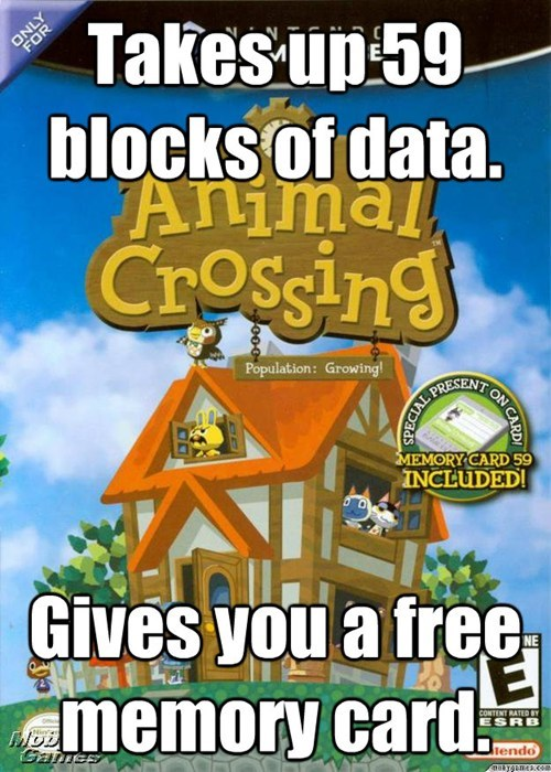memory cards,gamecube,animal crossing