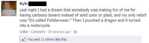 what a twist,dreams,funderwear,nightmares,failbook,g rated