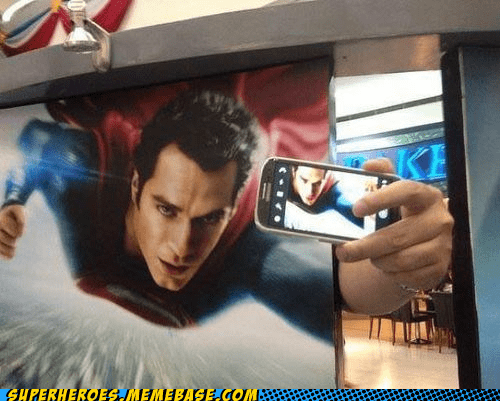 advertisement selfie funny superman - 7579511040