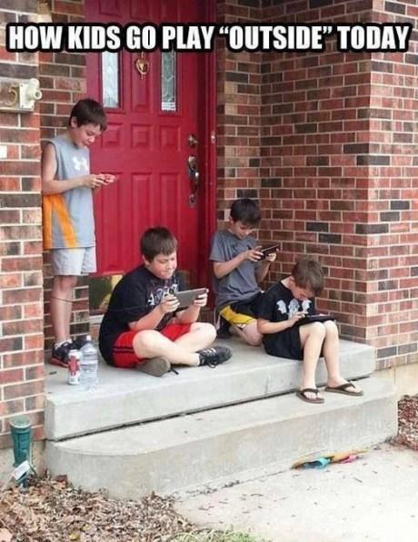 kids IRL gaming outside - 7579529216