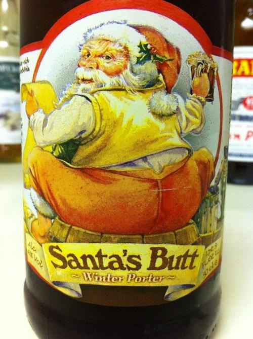beer butt wtf santa funny - 7579532288