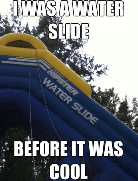 water slides,summer,hipsters