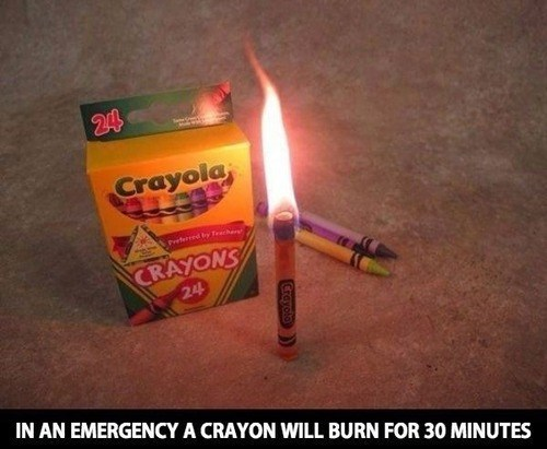 candles,life hacks,crayons