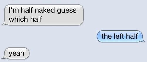 half naked naked texting - 7579779840