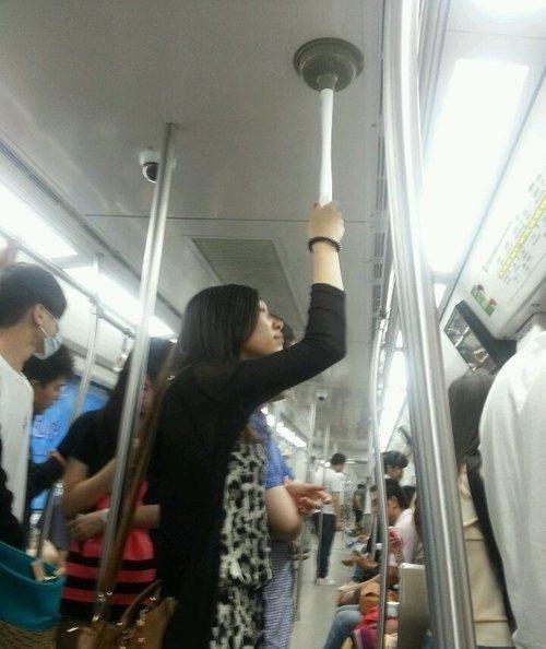 plunger,genius,public transit,funny