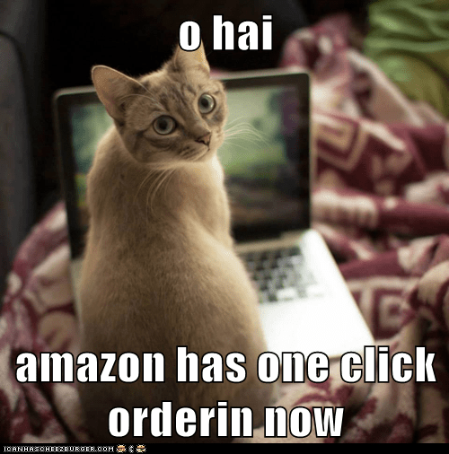 Funny cat meme of a kitten that ordered 100 cans of tuna on amazon