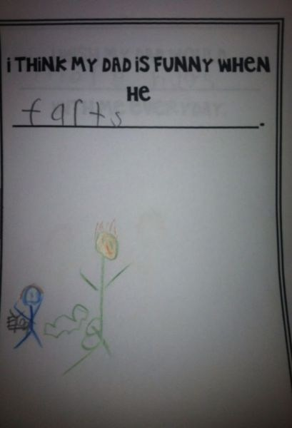 dads farts kids' drawings funny g rated parenting