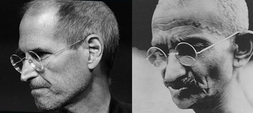 gandhi glasses totally looks like steve jobs funny