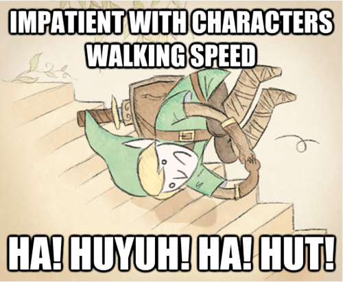 walking,video games,video game logic,zelda