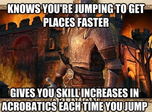 RPGs,acrobatics,oblivion