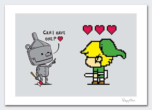 link art hearts zelda tin man