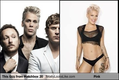 Music,pink,matchbox 20,totally looks like,funny