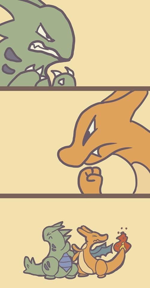 tyranitar,Pokémon,charizard,comics,battles