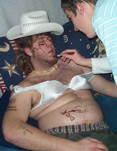 wtf drunk passed out cowboy hat - 7582701824