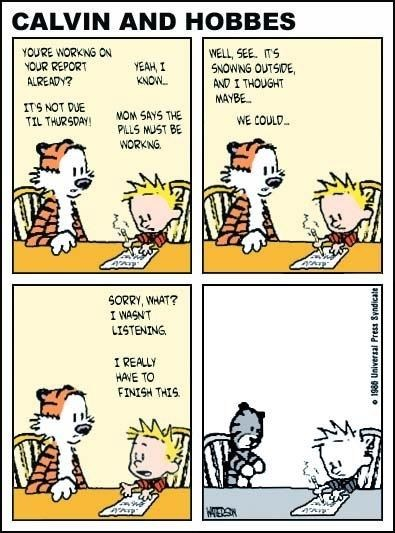 calvin and hobbes childhood funny - 7582715136