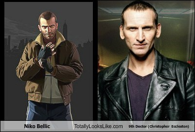 totally looks like,doctor who,niko bellic,christopher eccleston,funny