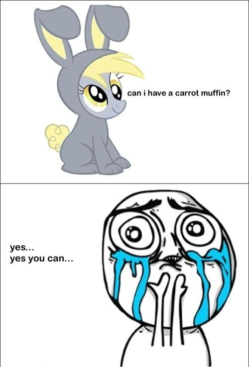 derpy hooves cute muffins carrots rabbits - 7583961856
