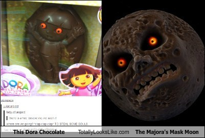 dora,moon,totally looks like,chocolate,funny,major's mask