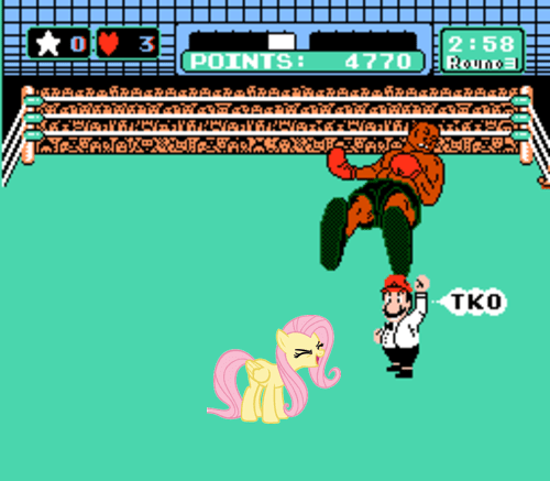 Punch Out,video games,fluttershy