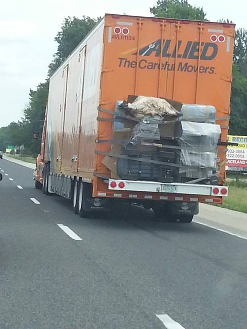 duct tape funny moving truck there I fixed it - 7584499456