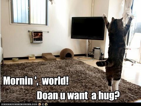 cute morning hugs stretch - 7584548608