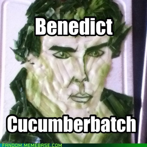 benedict cumberbatch puns cucumbers - 7585312256