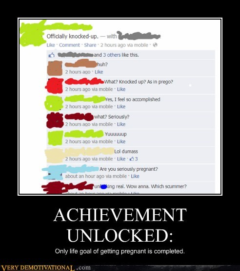 achievement facebook pregnant funny - 7585385472