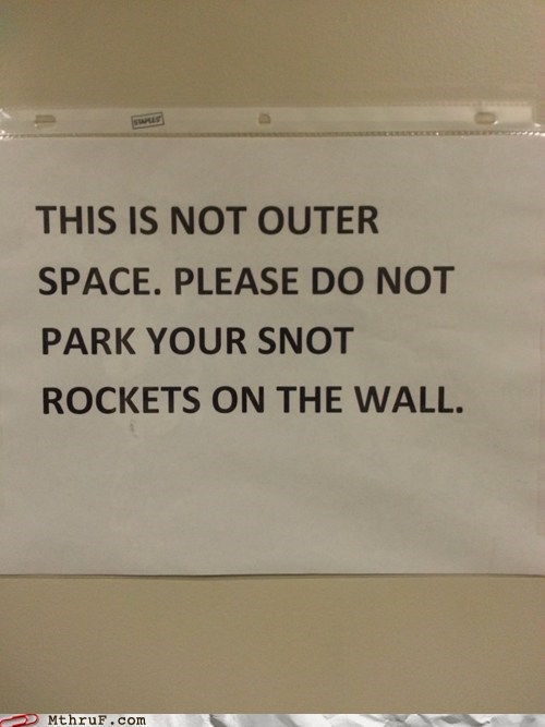 snot rockets,bathroom