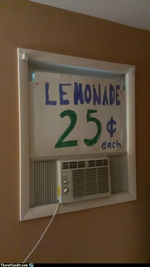 signs,lemonade stand,funny,air conditioners