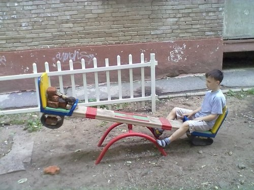 forever alone,wtf,kids,funny,see saw