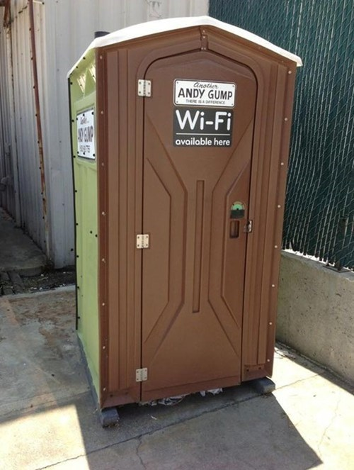 gogo internet wifi port-a-john honey bucket