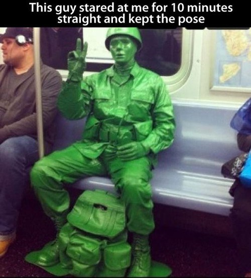 Straight army men