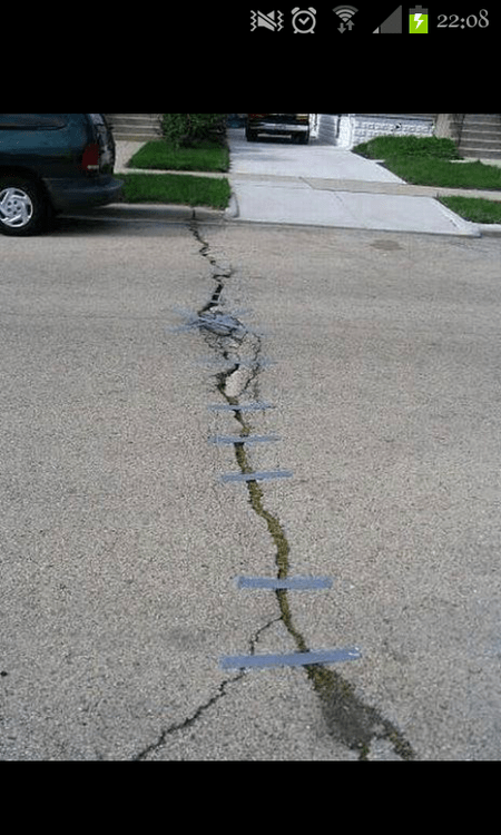 broken roads,duct tape,funny,roads,g rated,there I fixed it