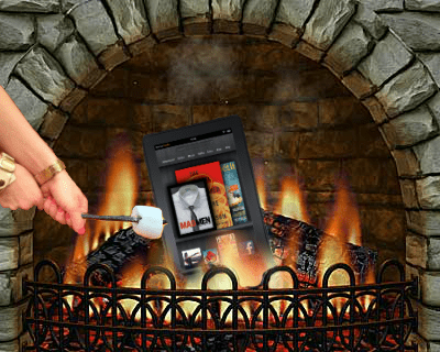 fireplace,kindle fire,puns