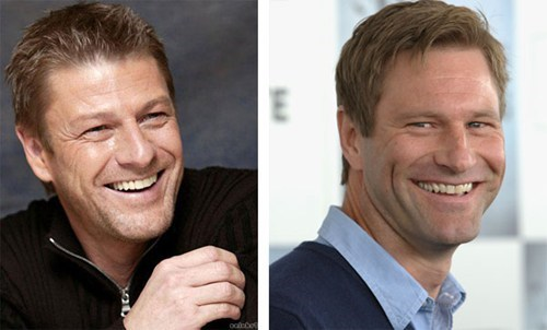 sean bean,aaron eckhart,totally looks like,funny