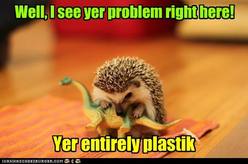 dinosaur plastic hedgehogs funny - 7586584576