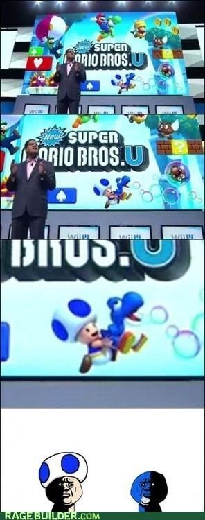 toad super-mario-bros-u oh god why video games nintendo yoshi - 7586640640