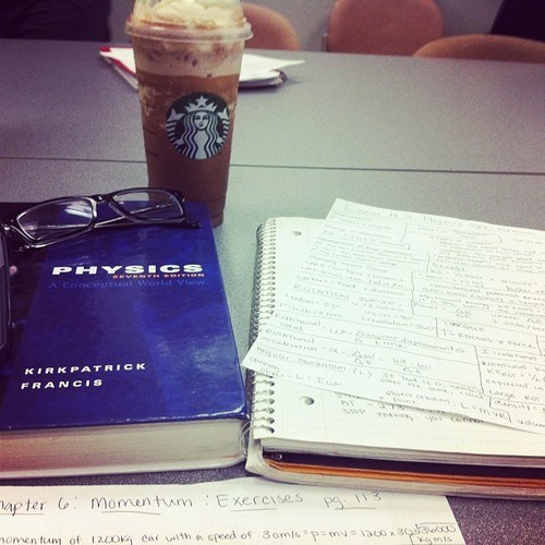 studying physics coffee funny