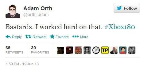 adam orth,twitter,xbox 180,always online