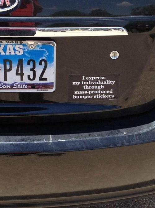 bumper sticker irony funny - 7586737920