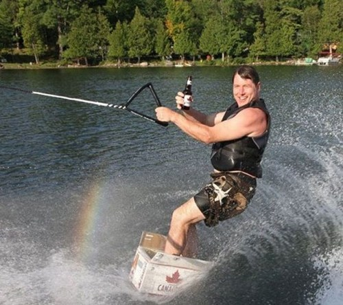 BAMF water skiing funny g rated win - 7586754048