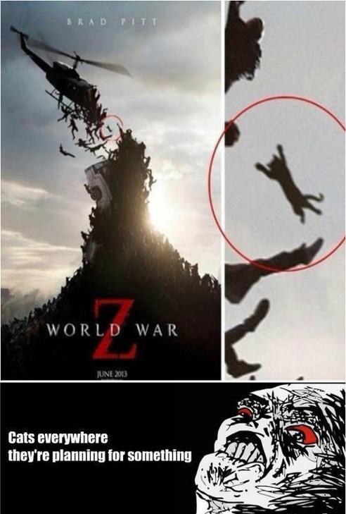 wtf movies world war z Cats - 7586760192