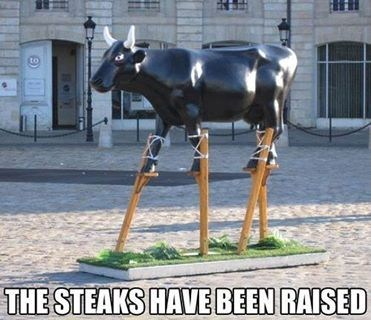 steak cattle puns bull funny - 7586890240