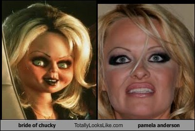 totally looks like Bride of Chucky pamela anderson funny - 7587019776