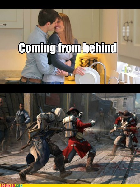 things boys do hugs assassins creed funny - 7587365120