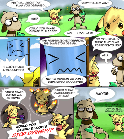 Pokémon comics Smeargle wobbuffet - 7587368704